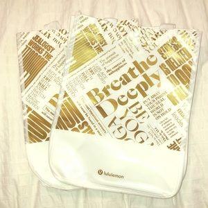 2 lululemon reusable bags